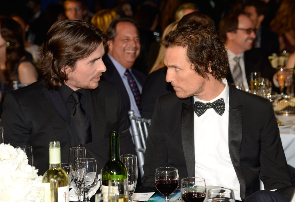 Christian Bale and Matthew McConaughey shared a table at the Critics' Choice Awards.