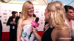 "Video: Elle Fanning on Her ""Beachy"" Critics' Choice Look and Angelina"