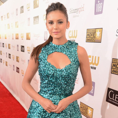 Nina Dobrev in Teal at Critics' Choice Awards 2013