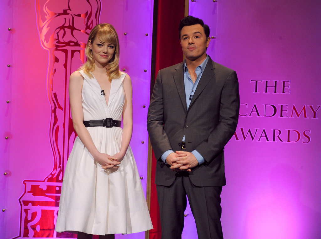 Emma Stone and Seth MacFarlane presented the 2013 Oscar nominations.