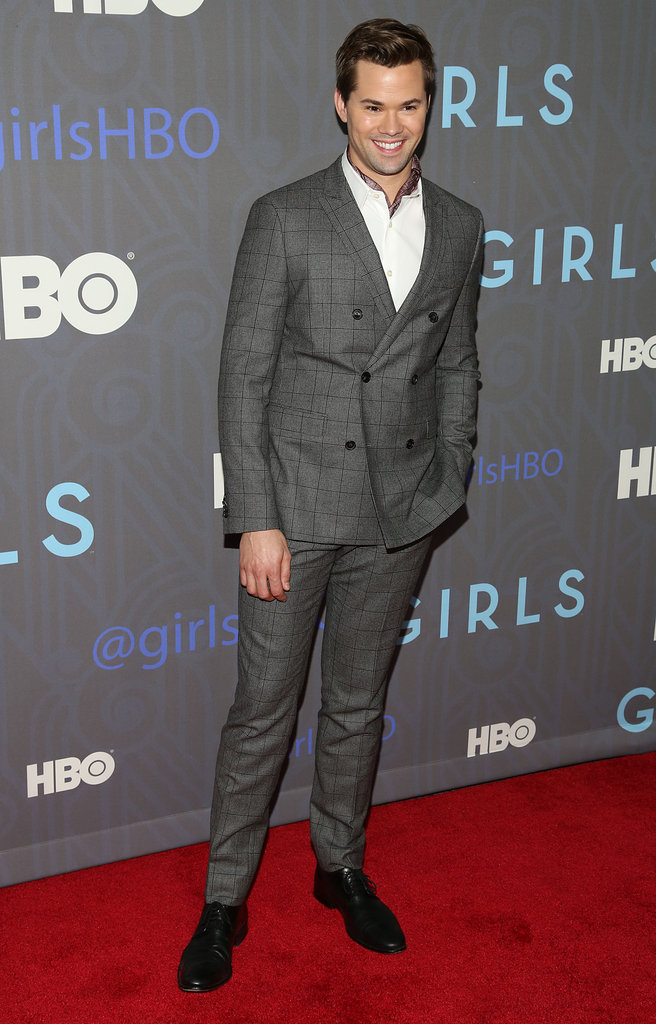 Andrew Rannells walked the red carpet at the premiere.