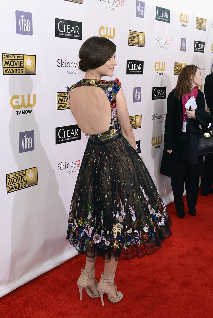 Marion Cotillard showed off her Zuhair Murad gown on the red carpet.