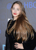 Jemima Kirke showed off her long hair.