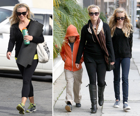 Reese Witherspoon Mixes Gym and Family Time