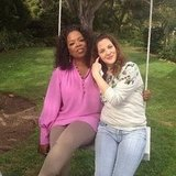 Oprah went for a swing with Drew Barrymore. Source: Instagram user oprah