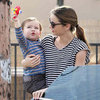 Miranda Kerr and Flynn Pictures Matching in Stripes in LA