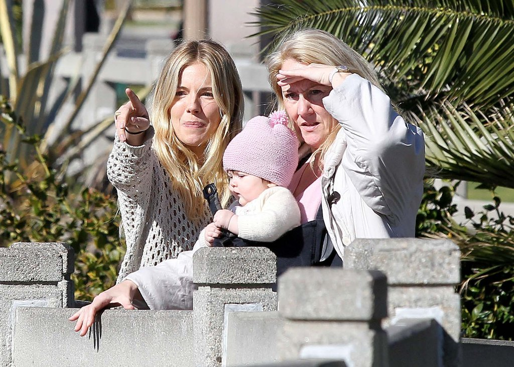 Sienna Takes It Easy With Marlowe Ahead of the Golden Globes