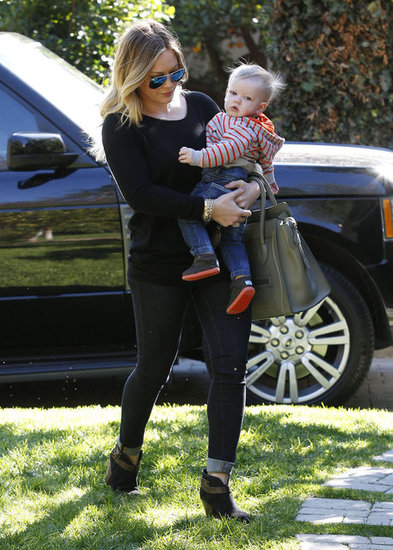 Hilary Duff Hangs With Baby Luca and Cleans Out Her Closet For a Cause