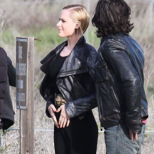 Pictures of Pregnant Evan Rachel Wood on Set
