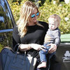 Hilary Duff Carries Baby Luca to a Friend&#039;s House | Pictures