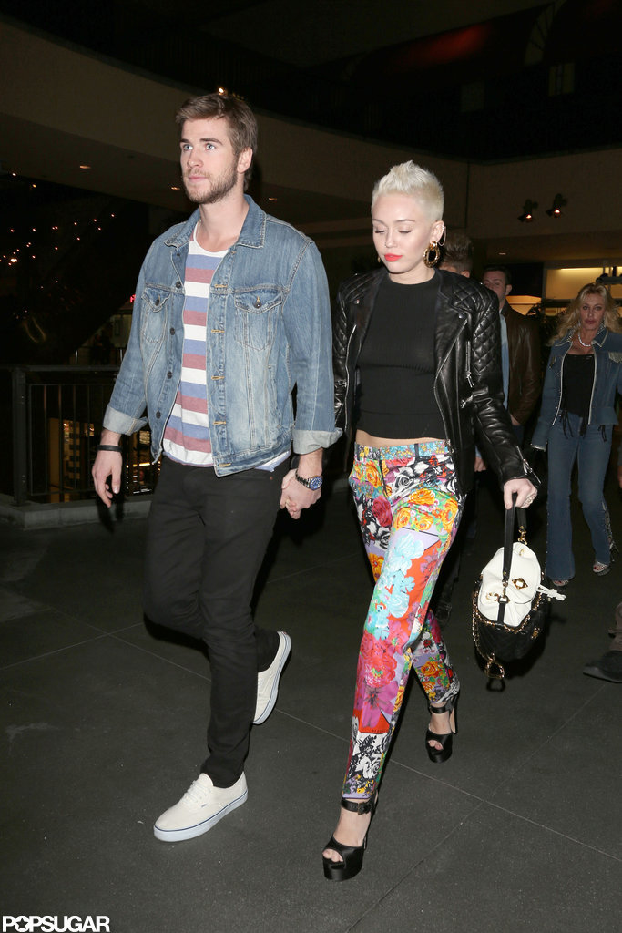 Miley Cyrus took Liam Hemsworth along to her younger sister Noah's birthday in LA in January 2013.
