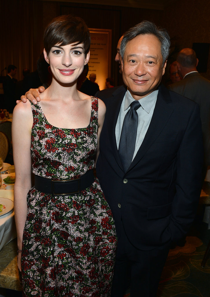Anne Hathaway reunited with her Brokeback Mountain director Ang Lee.