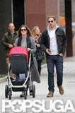 Drew Barrymore and Will Kopelman took a stroll with their daughter, Olive Kopelman.