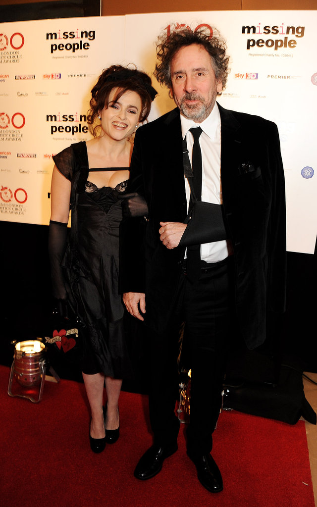 Helena Bonham Carter walked the red carpet with Tim Burton.