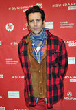 James Callis layered up for the red carpet.