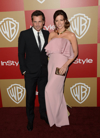 Kate Beckinsale and Len Wiseman paired up on the InStyle afterparty red carpet.