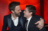 Ben Affleck put an arm around his brother, Casey Affleck.