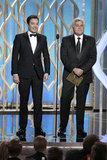 Jimmy Fallon and Jay Leno presented together at the Globes.