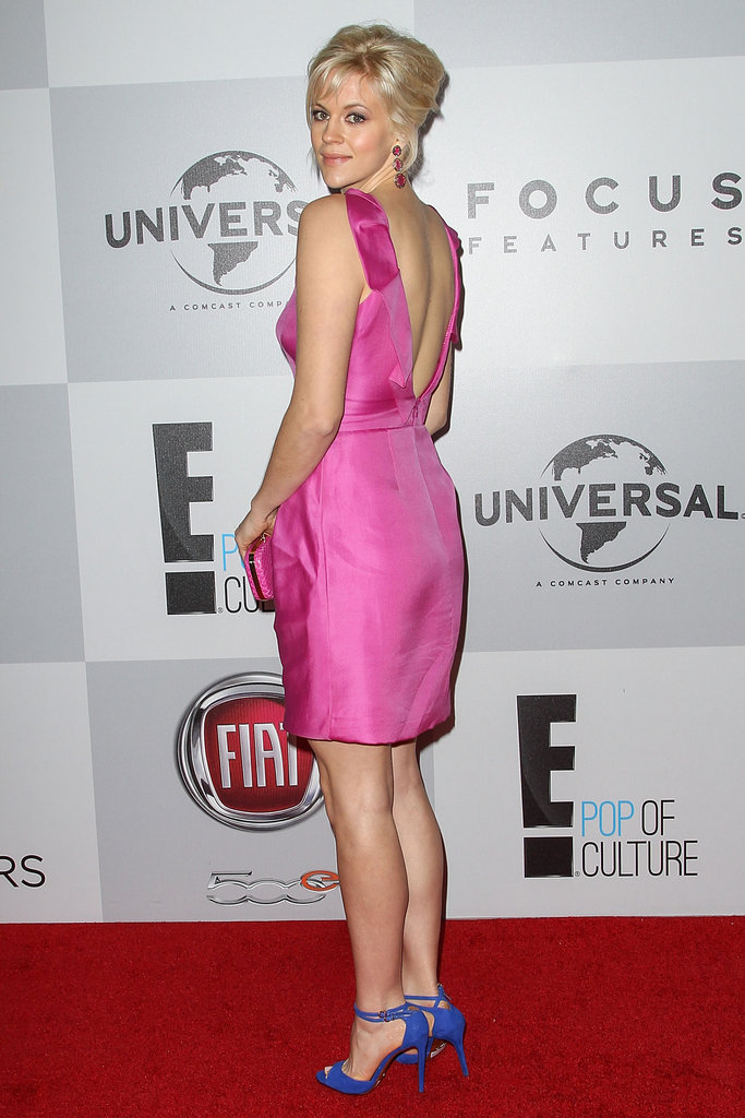 Georgia King went with a backless, pink dress.