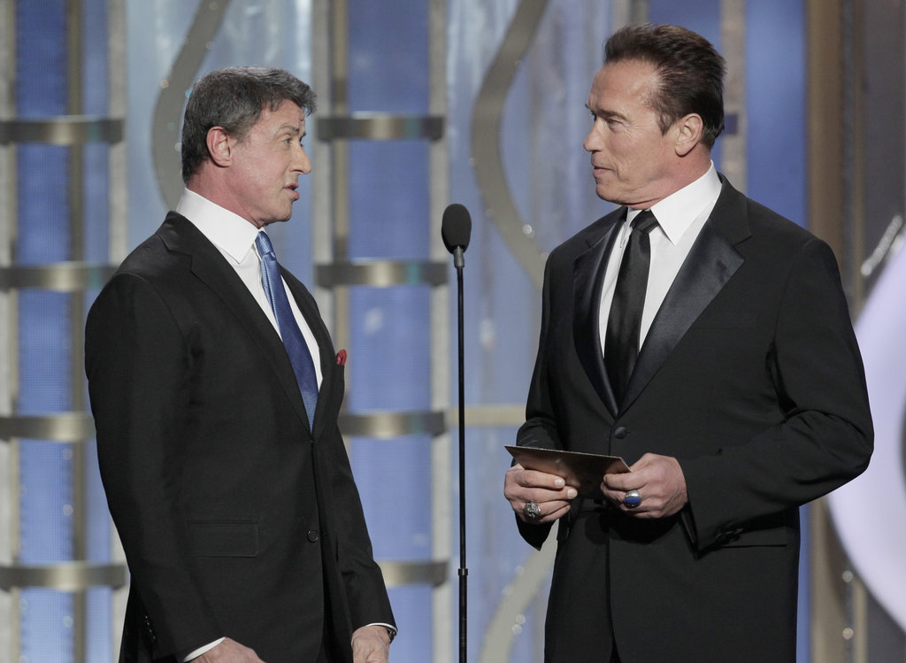 Arnold Schwarzenegger and Sylvester Stallone joked around while presenting.