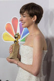 Anne Hathaway attended NBC's official afterparty.