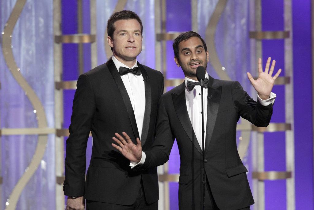 Aziz Ansari and Jason Bateman presented together at the Golden Globes.