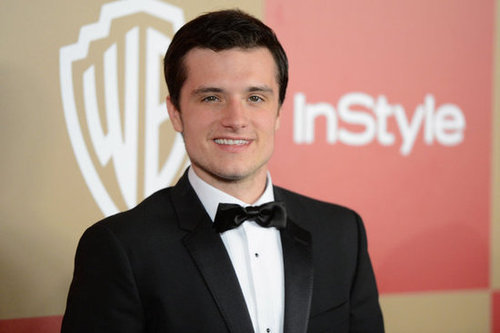 Josh Hutcherson arrived in a tuxedo.