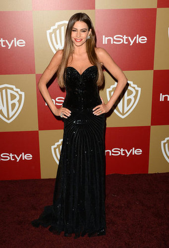 Sofia Vergara went strapless.