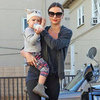 Miranda Kerr Heading to the Gym With Flynn Bloom | Pictures