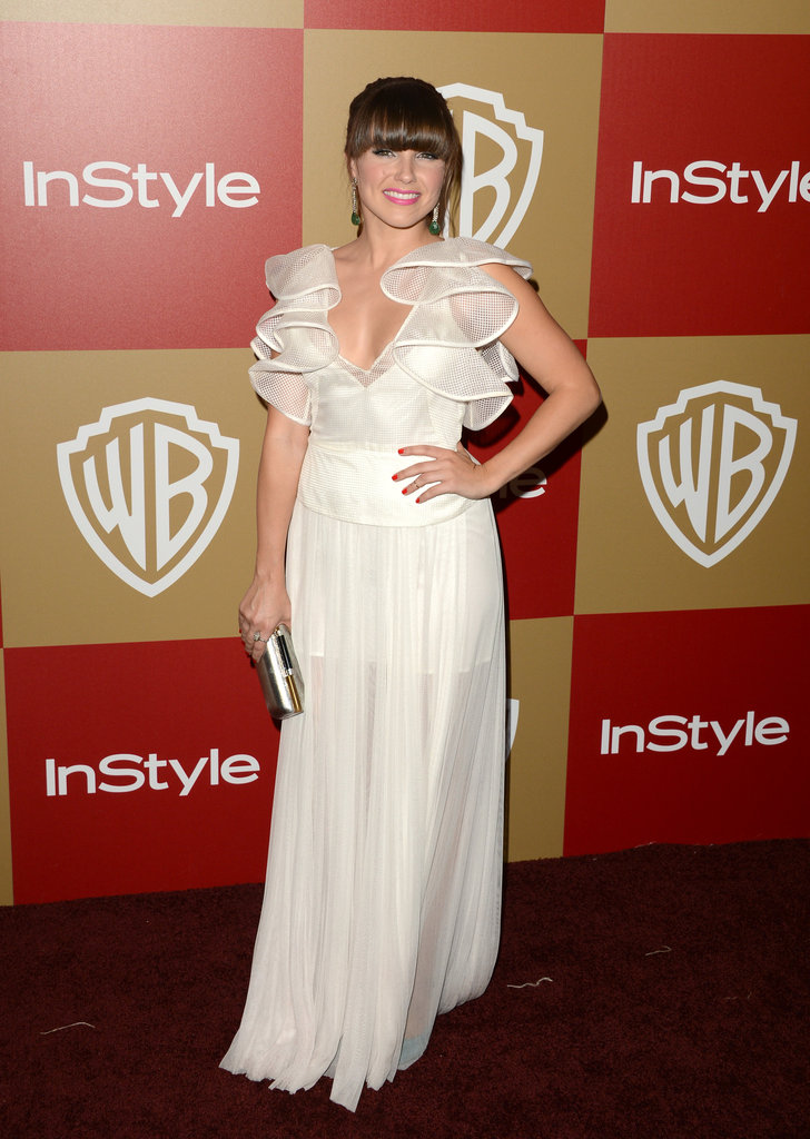 Sophia Bush chose a white ruffled Lisa Ho confection for the InStyle party.