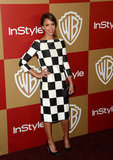 Jessica Alba's bold outfit switch came courtesy of this black-and-white checkered Louis Vuitton sheath.