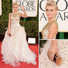Julianne Hough in Monique Lhuillier at 2013 Golden Globes