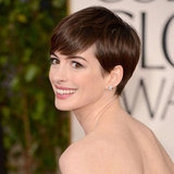 Pictures of Anne Hathaway at the 2013 Golden Globes