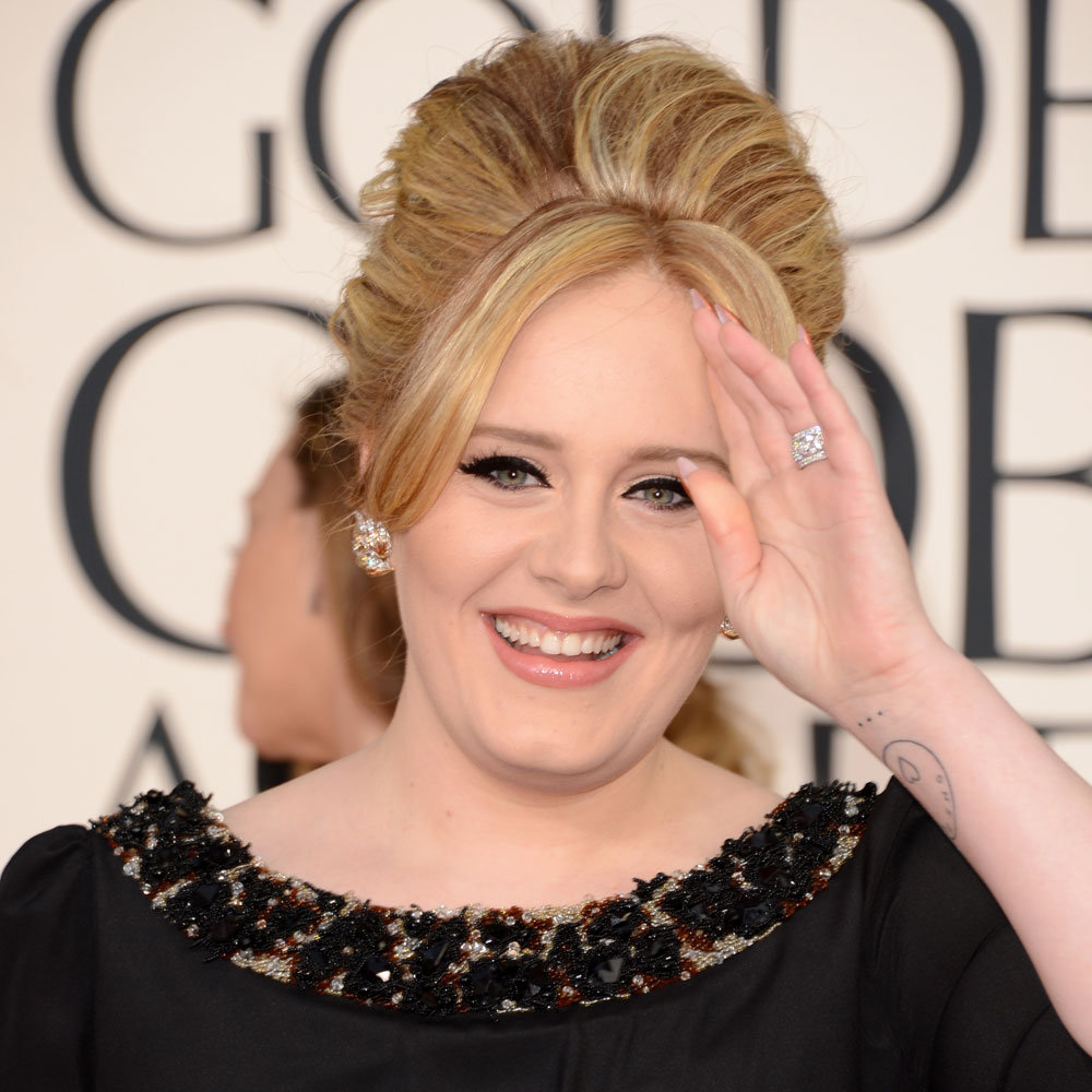 Pictures of Adele at the 2013 Golden Globes