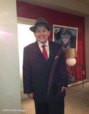 Sofia Vergara found her Modern Family member Rico Rodriguez suited up for a scene. Source: Sofia Vergara on WhoSay