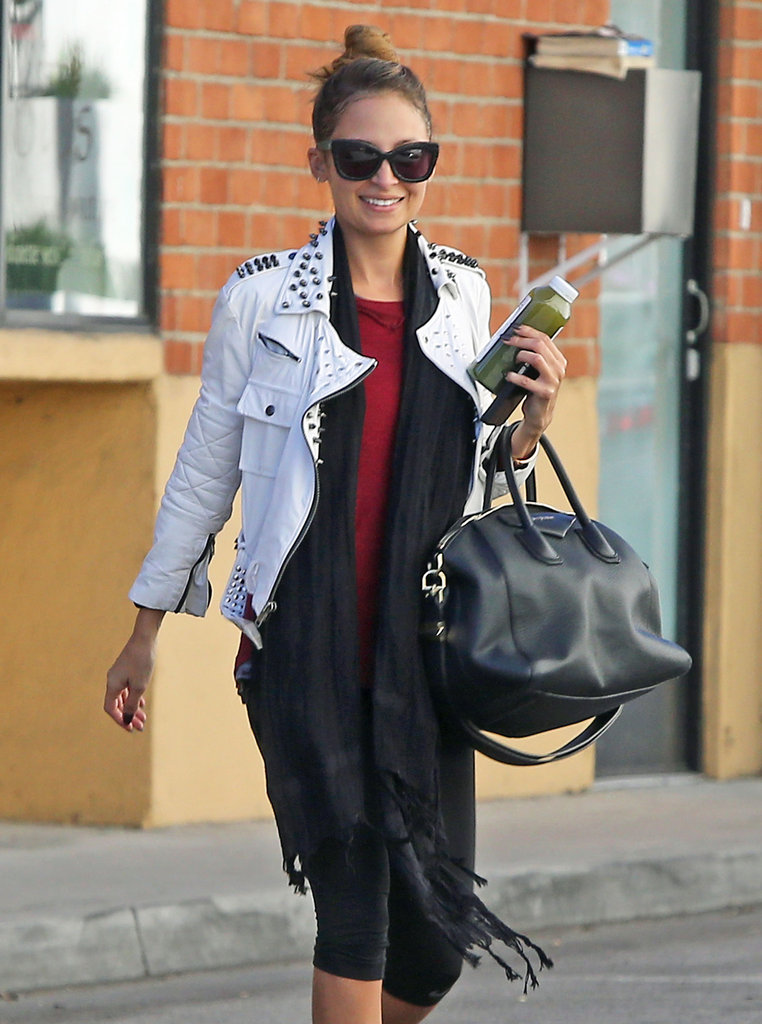 Nicole Richie crossed the street.