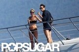 Kate Moss was in a bikini while yachting off the coast of Corsica in July of 2011 with brand-new husband, Jamie Hince.