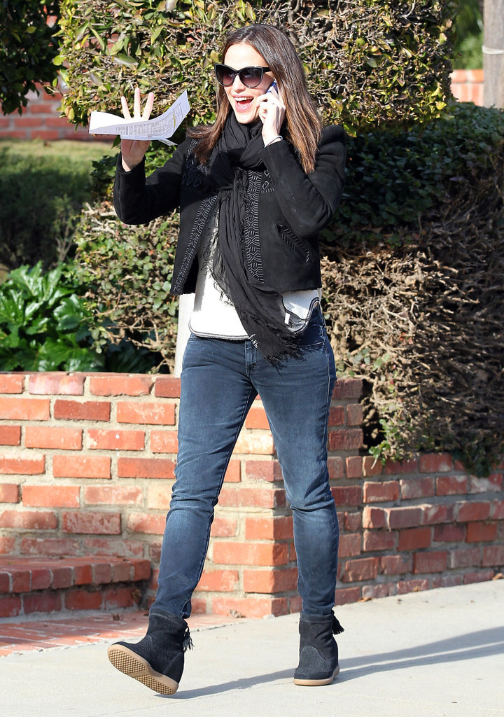 Jennifer Garner waved in LA.