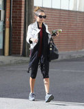 Nicole Richie toted a green juice.