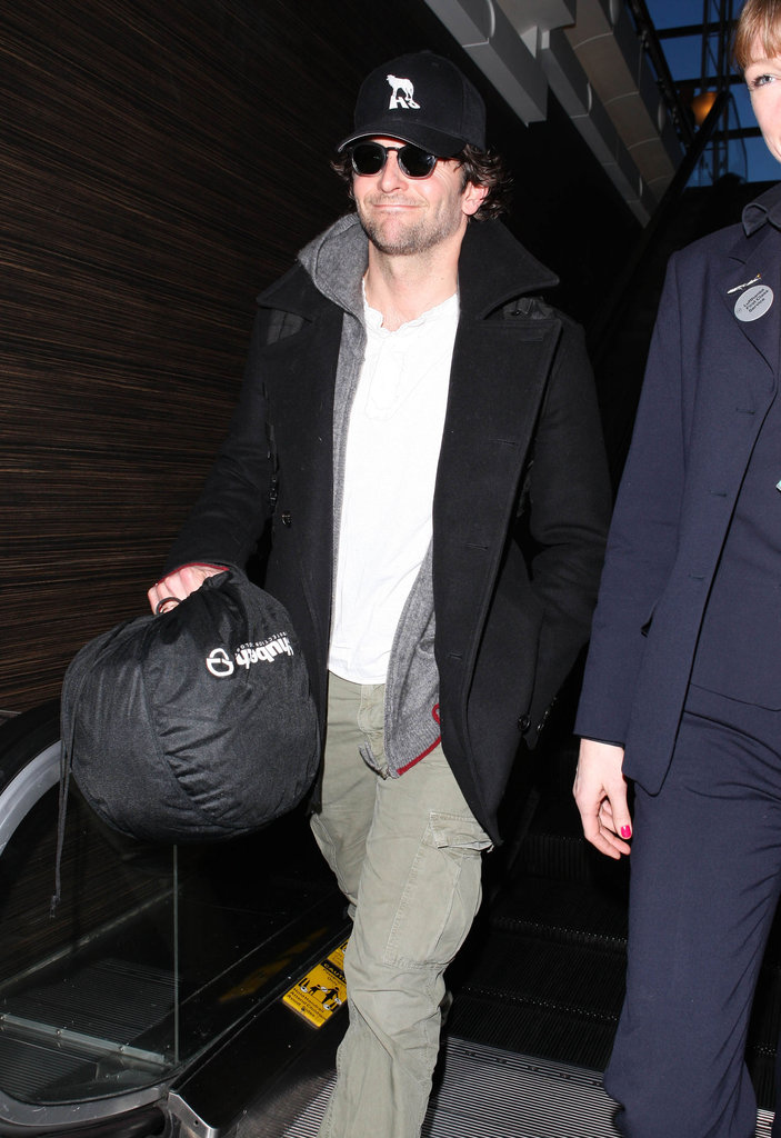 Bradley Cooper walked through LAX.