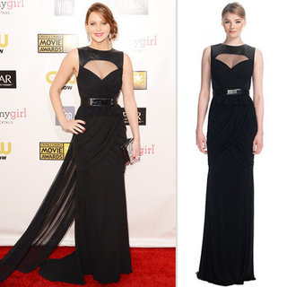Jennifer Lawrence Black Prabal Gurung Dress (Shopping)