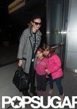 Miranda Kerr posed with young fans.
