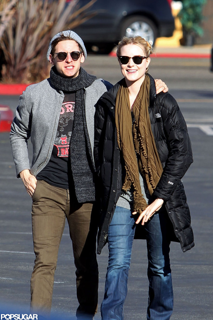 Evan Rachel Wood and Jamie Bell walked in LA.