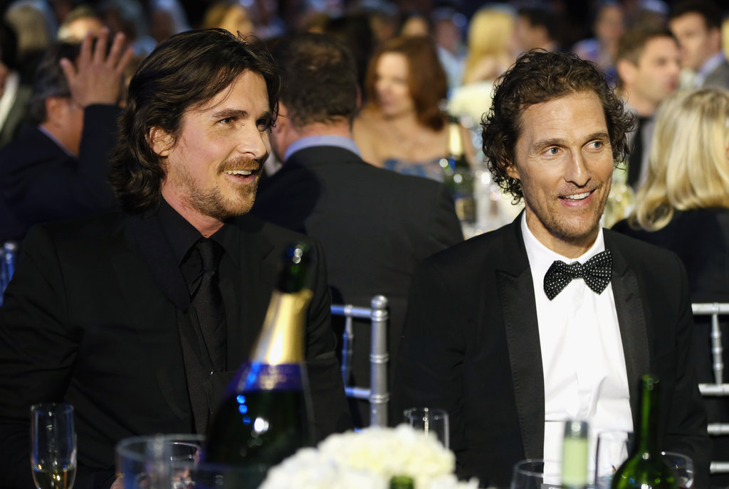 At the Critics' Choice Awards, Matthew McConaughey and Christian Bale sat together.