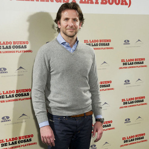 Bradley Cooper Promoting Silver Linings Playbook in Madrid