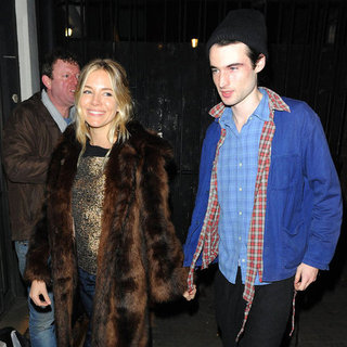 Sienna Miller and Tom Sturridge at the Theater