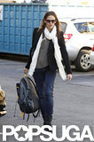 Jennifer Garner carried her backpack with her for a day of errands in LA.