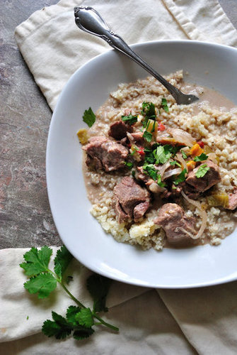 Crockpot Beef & Bell Pepper Red Coconut Curry