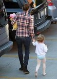 Jennifer Garner and Seraphina Affleck headed to their car after a ballet class in LA.