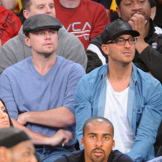 Celebrities at the Lakers Game January 2013